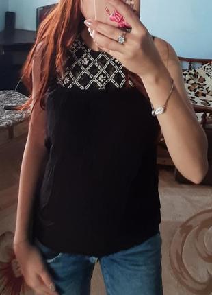 Футболка блуза вышиванка\блузка нарядна чорна вишиванка