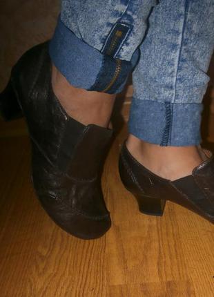 Ботинки,закрытые туфли janet d/ кожа/25 см/оригинал