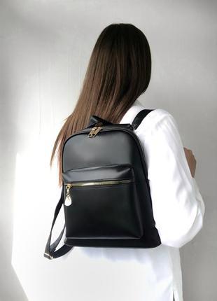 Рюкзак в чёрном цвете эко кожа лето 2021