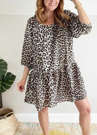 Платье в леопардовый принт h&m