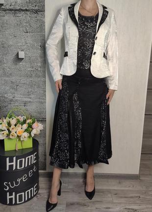 Костюм женский  3-ка с юбка, блузка, пиджак(0635)