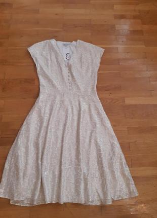 Вечірня шовкова сукня, 38 розмір, нова з бірочкою.