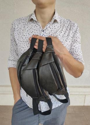 Сумка через плечо / бананка / сумка на пояс / экокожа / водонепроницаема
