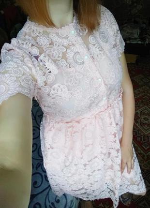 Красиве платье сукня міді мереживо