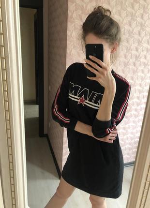 H&m спортивное черное платье miami маями
