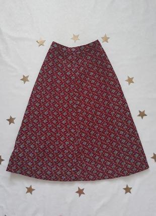 Винтажная юбка в цветочный принт, винтаж