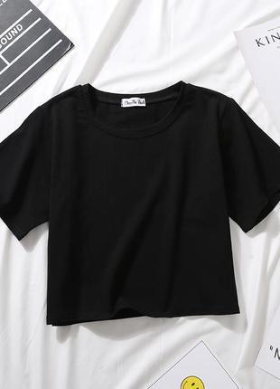 Кроп топ/ топ трикотажный/ черный топ/ спортивный топ/ укороченная футболка/ красный, белый, черный, бежевый2 фото