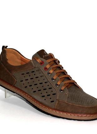 Мужские коричневые летние туфли x3183-31