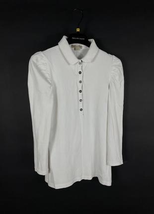 Оригинальный лонгслив поло burberrys brit реглан блузка топ с воротником
