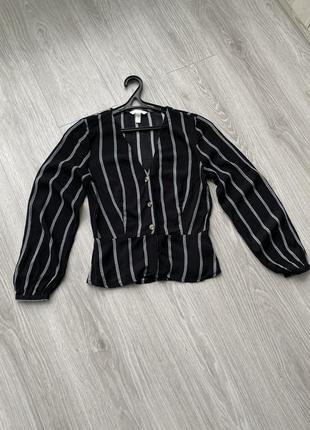 Блуза h&m рубашка сорочка широкий рукав