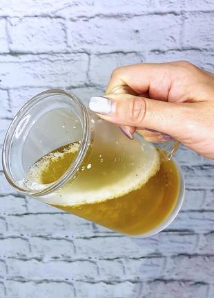 Пивной бокал кружка непроливайка 350 ml ht06