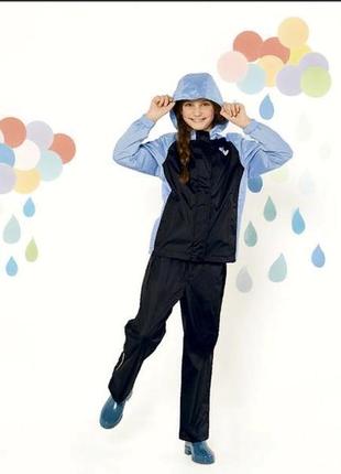 Костюм дождевик для девочки водонепроницаемый от crivit .2 фото