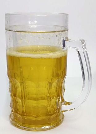 Пивной бокал кружка непроливайка 400 ml