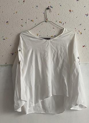 Белая блуза zara
