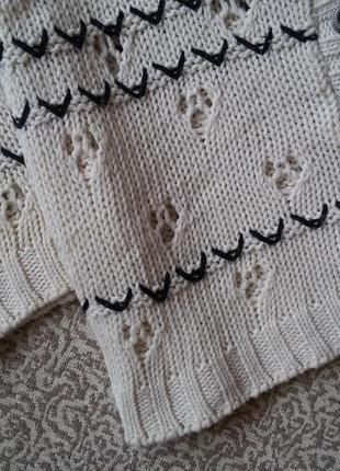 Кардиган кофта вязаная на пуговицах с рукавами 3/4 stradivarius3 фото
