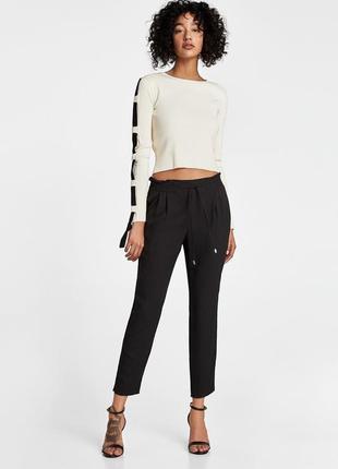 Женские летние легкие штаны брюки джоггеры zara
