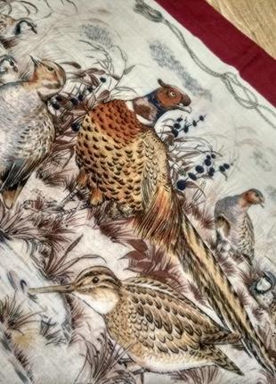 Брендовый котоновый или шерстяной платок tino lauri, птицы2 фото