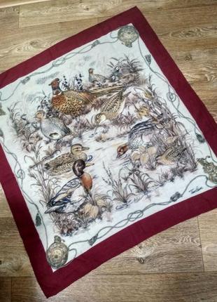 Брендовый котоновый или шерстяной платок tino lauri, птицы1 фото