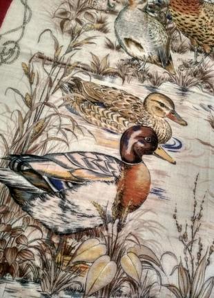 Брендовый котоновый или шерстяной платок tino lauri, птицы4 фото