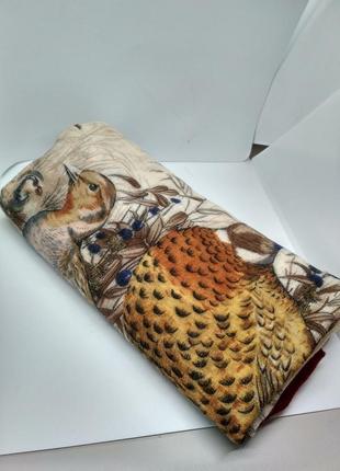 Брендовый котоновый или шерстяной платок tino lauri, птицы6 фото