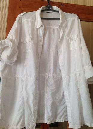 Итальянская льняная курточка рубашка gina benotti 60