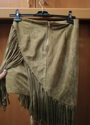 Стильная юбка под замш