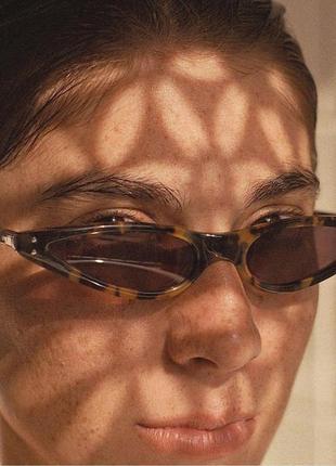 4-14 трендовые узкие солнцезащитные очки трендові вузькі сонцезахисні окуляри