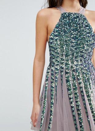 Asos роскошное блестящее мини-платье в пайетки