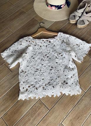 Кружевной топ / блуза / футболка