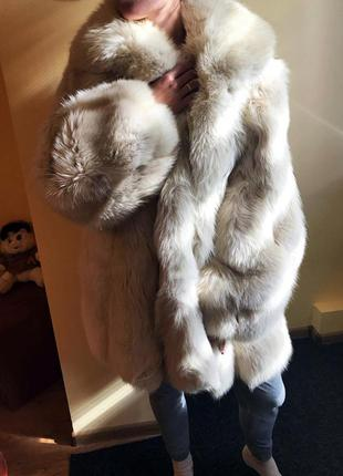 Шуба з полярної лисиці