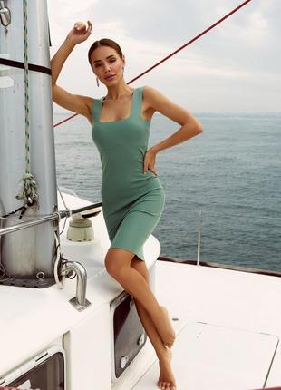 Трикотажна сукня / базовое из трикотажа