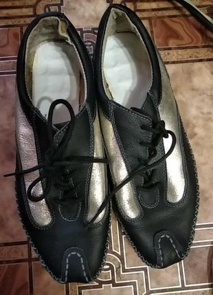 Мокасы-кросовки для работы дома,кожа,размер 38