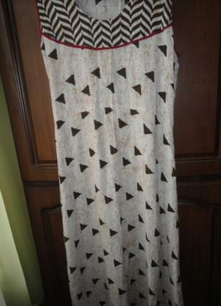 Вискозное платье в пол