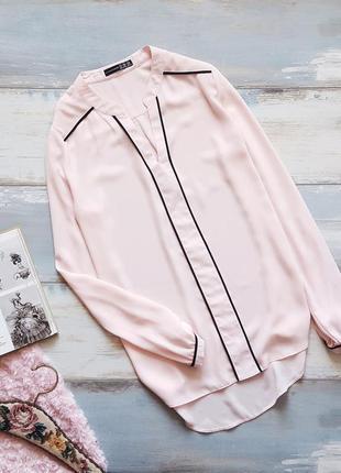 Нежно-розовая шифоновая блуза atmosphere