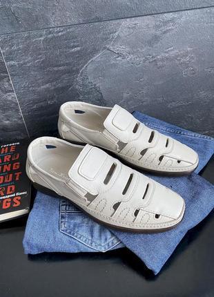 Мужские туфли летние натуральная кожа