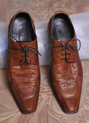 "Кожаные туфли ""roberto santi"""