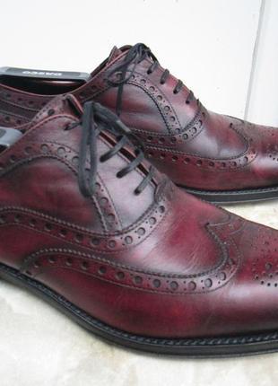 """Статусные кожаные туфли  """" navyboot """" 42 р. ( 28.5 см. ) италия."""
