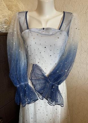 Красивое карнавальное платье эльза принцесса королева ночи