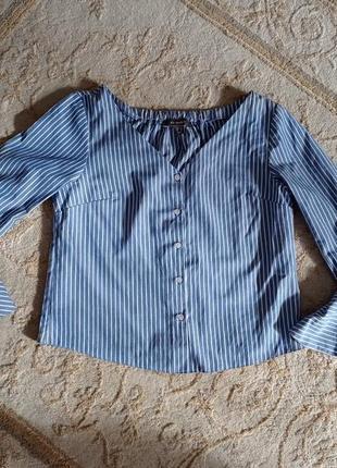 Рубашка в полоску сорочка блуза в смужку