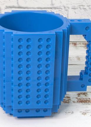 Кружка чашк конструктор лего синяя