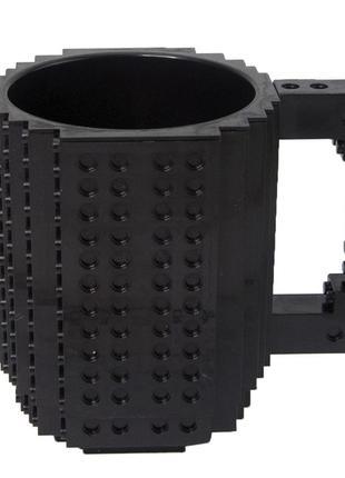 Кружка чашка конструктор лего черная