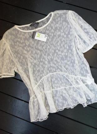 Блуза из прозрачной ткани