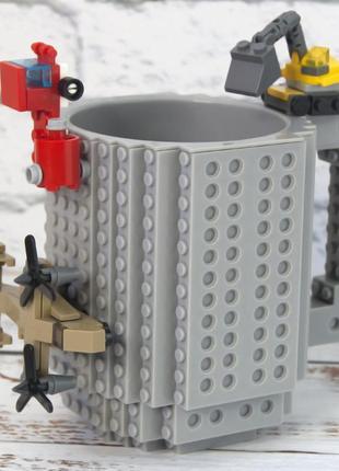 Серая кружка чашка конструктор лего
