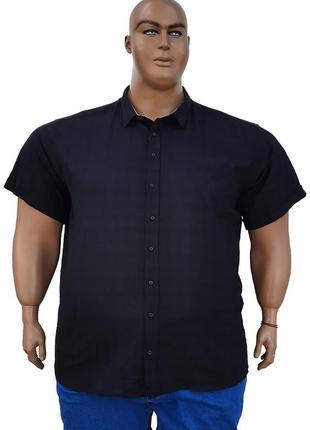Чёрная мужская рубашка большого размера.