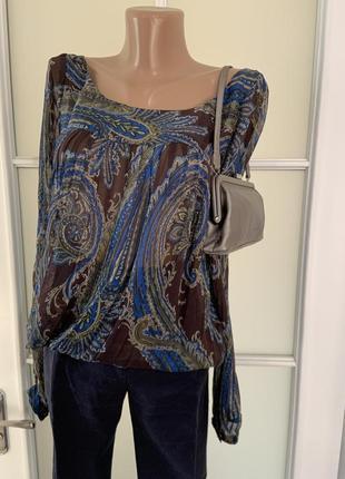 Блуза рубашка натуральный шёлк пейсли