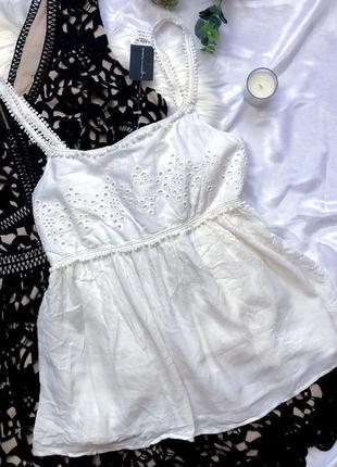 Новая с биркой белоснежная блуза, вискоза dorothy perkins