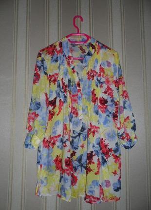 Блуза- туника средний рукав размер 46//3xl  вискоза