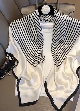 Шикарный шёлковый платок 90х90