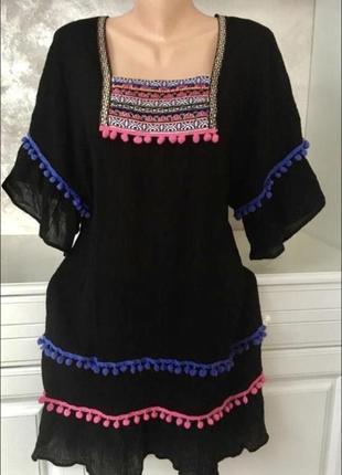Брендовое котоновое платье