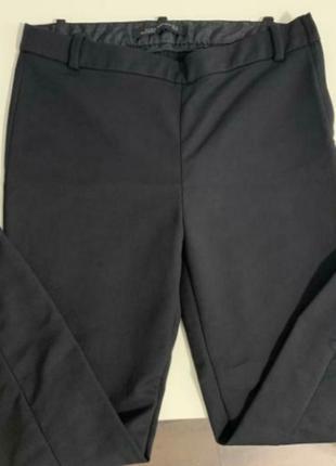 Черные приталеные брюки